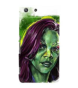 Black American Girl wall Painting 3D Hard Polycarbonate Designer Back Case Cover for Sony Xperia M5 Dual :: Sony Xperia M5 E5633 E5643 E5663