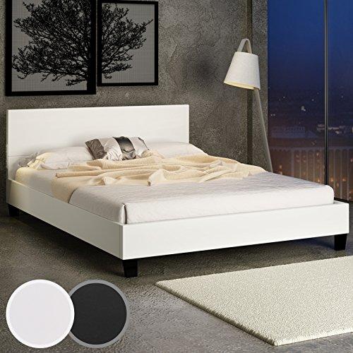Design-Kunstlederbett-Doppelbett-cremeweiss-mit-integriertem-Lattenrost-140x200cm