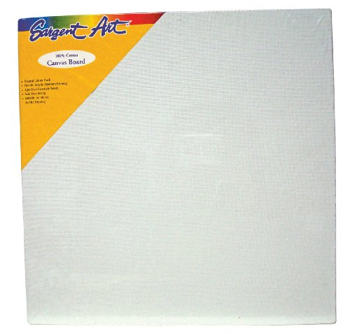 Sargent Art 90-3009 18x18-Inch Canvas Panel, 100% Cotton