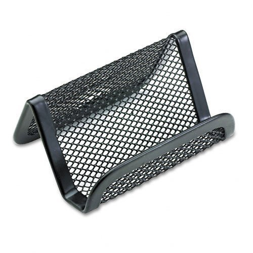 rolodex-mesh-business-card-holder-capacity-50-2-1-4-x-4-cards-black-sold-as-2-packs-of-1-total-of-2-