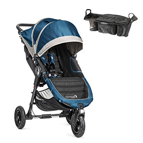 City Mini Gt Single Stroller In Teal/Gray W Parent Console front-453054