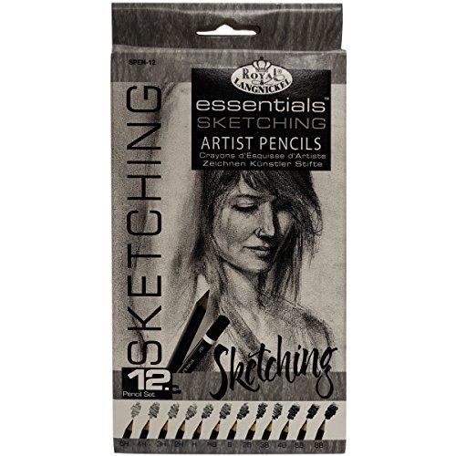 royal-langnickel-spen-12-pack-de-12-crayons-a-dessin-5h-4h-3h-2h-h-hb-b-2b-3b-4b-5b-6b