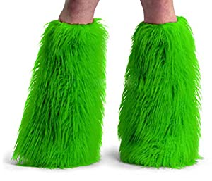 Lime- Adult STD- Faux Fur Boot Covers from Pleaser