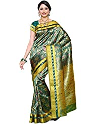 Mimosa Women's Traditional Art Silk Saree Kanjivaram Style, Color :Rama(3254-N9-RAMA)