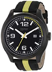 Esprit Race Water-Resistant Analog Black Dial Womens Watch ES103872003