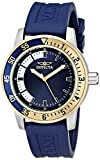 Invicta Specialty Men's Quartz Watch with Blue and White Dial Analogue Display and Blue PU Strap 1284