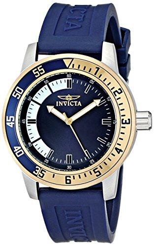 Invicta Herren-Armbanduhr XL Analog Quarz Kautschuk 128472