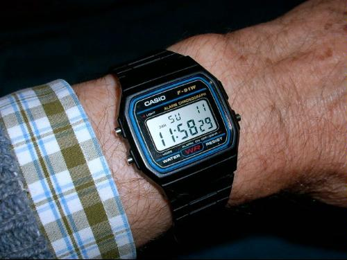 The 80s are back: Casio F-91W-1YEF | Retrouhr