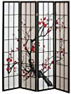 4 panel Cherry Blossom Design Room Di…