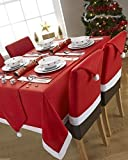 CHRISTMAS RED WHITE FLEECE PACK OF 2 PLACEMATS 13