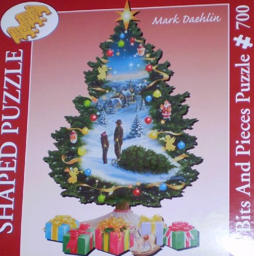 Mark Daehlin: Christmas Tree, 700 Piece Large Format Shaped Puzzle