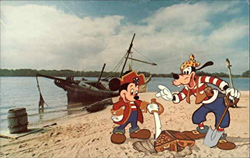 Mickey-Mouse-and-Goofy-on-Discovery-Island-Disney-Original-Vintage-Postcard