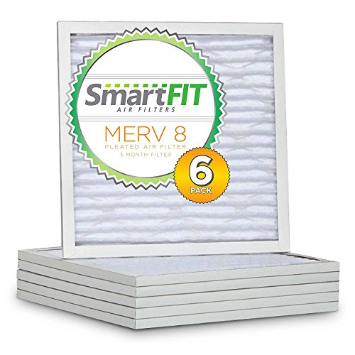 SmartFIT 20x25x1 MERV 8 Air Filter / Furnace Filter (6 Pack)