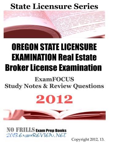 Oregon Real Estate Broker License : Oregon state licensure examination real estate broker