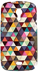 Purple Eyes Generic Night Glow Back Case Cover For Micromax Canvas HD A116 Abstract Triangle (Multi-coloured)