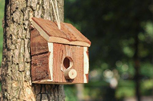 Niteangel Small Hanging Natural Wooden Garden Bird House