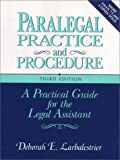 img - for By Deborah E. Larbalestrier Paralegal Practice and Procedure (3 Sub) [Hardcover] book / textbook / text book