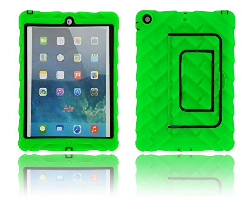 Nancy'S Shop Hot Newest Soft Silicone Bounce Free Apple Ipad 5 5Th Gen Tablet Ultra Slim Lightweight Folio Stand Smart Kid Proof Extreme Duty Dual Protective Back Cover With Kickstand And Sticker Pure Light Mint Case Cover For Apple Ipad Air Ipad 5 Rainpr