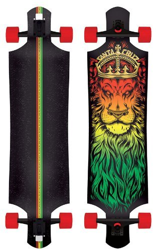 Santa Cruz Lion God Rasta Drop Thru Cruzer Freeride Longboard Complete 10