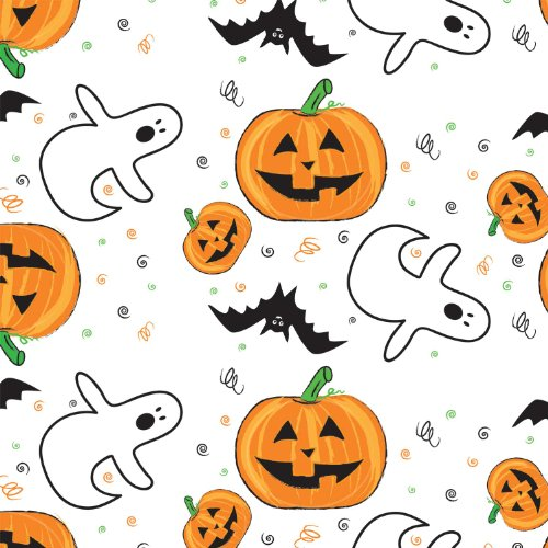 "Party Essentials ValuMost Printed Plastic Table Cover, 54 x 108"", Halloween"