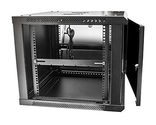 Navepoint 9u Deluxe It Wallmount Cabinet Enclosure 19 Inch