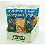 Oral-B Stages Toothpaste - Princess / E-Wall - Bubble Gum Flavour 75ml-Pack Of 4