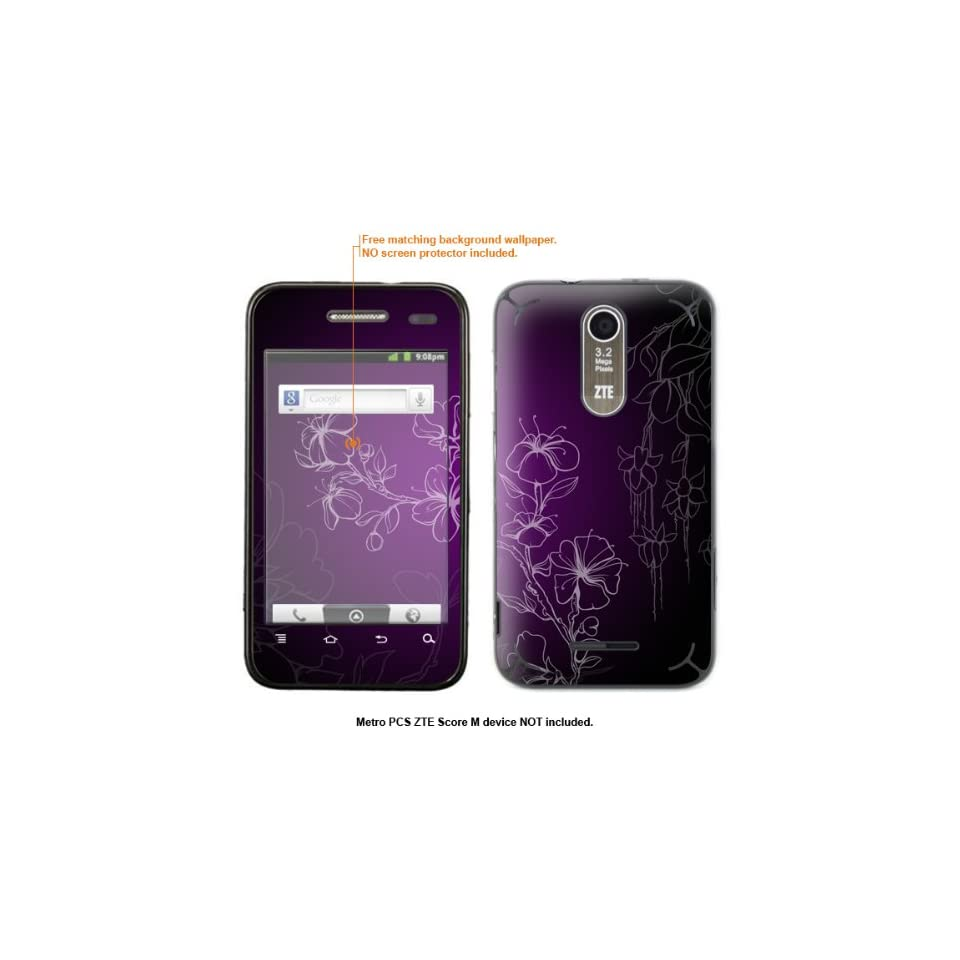 Protective Decal Skin Sticker for Metro PCS ZTE Score M case cover ZTEscoreM 8