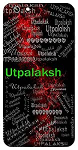 Utpalaksh (Lord Vishnu) Name & Sign Printed All over customize & Personalized!! Protective back cover for your Smart Phone : Samsung Galaxy S4mini / i9190