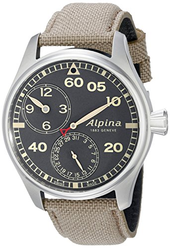 Alpina-Mens-AL-950BGR4S6-Startimer-Pilot-Manufacture-Analog-Display-Automatic-Self-Wind-Beige-Watch