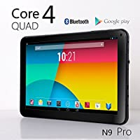 NeuTab N9 Pro 9'' Quad Core Google Android 4.2 Jelly Bean Tablet, 8GB, Quad Core CPU & GPU, Bluetooth 4.0, Radio FM, HD Dual Camera, Google Play Pre-loaded, 3D-Game Supported by NeuTab