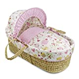Clair de Lune Sweet Tweet Moses Basket (Palm)