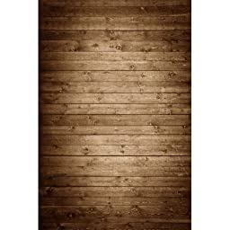 Photography Weathered Faux Wood Floor Drop Background Mat CF1367 Rubber Backing, 5\'x7\' High Quality Printing, Roll up for Easy Storage Photo Prop Carpet Mat