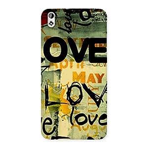 Delighted Love Typo Multicolor Back Case Cover for HTC Desire 816s
