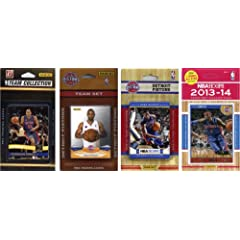 NBA Detroit Pistons 4 Different Licensed Trading Card Team Sets by C&I Collectables