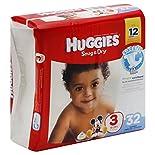 Huggies Snug & Dry Diapers, Size 3 (16-28 lb), Disney Baby, 32 diapers