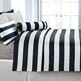 Echelon Home Cabana Stripe King Duvet Cover Set, Navy