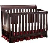 Delta Children Products Eclipse 4 in 1 Convertible Crib, Black Cherry/Espresso