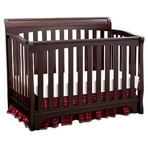 Delta Children Eclipse 4 in 1 Convertible Crib, Black Cherry/Espresso