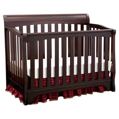 Delta Children's Products Eclipse 4 in 1 Convertible Crib, Black Cherry/Espresso