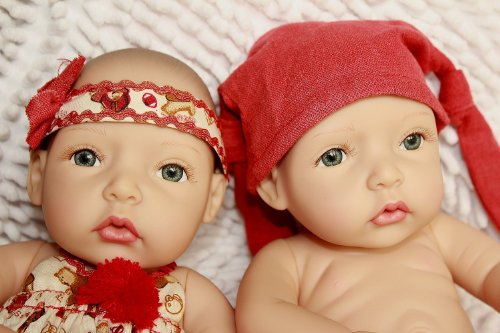 Reborn Baby Dolls Twins Silicone Baby Doll Lovely Toy back-1074968
