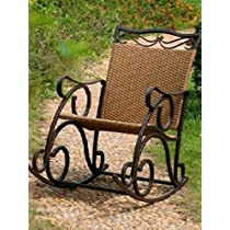 Valencia Resin Wicker / Steel Rocker (Matte Brown) (23