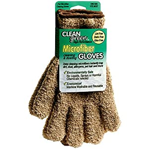 Clean Green High-Performance Microfiber Cleaning and Dusting Gloves - 1 Pair