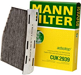 Mann-Filter CUK 2939 Cabin Filter With Activated Charcoal for select  Audi/ Volkswagen models