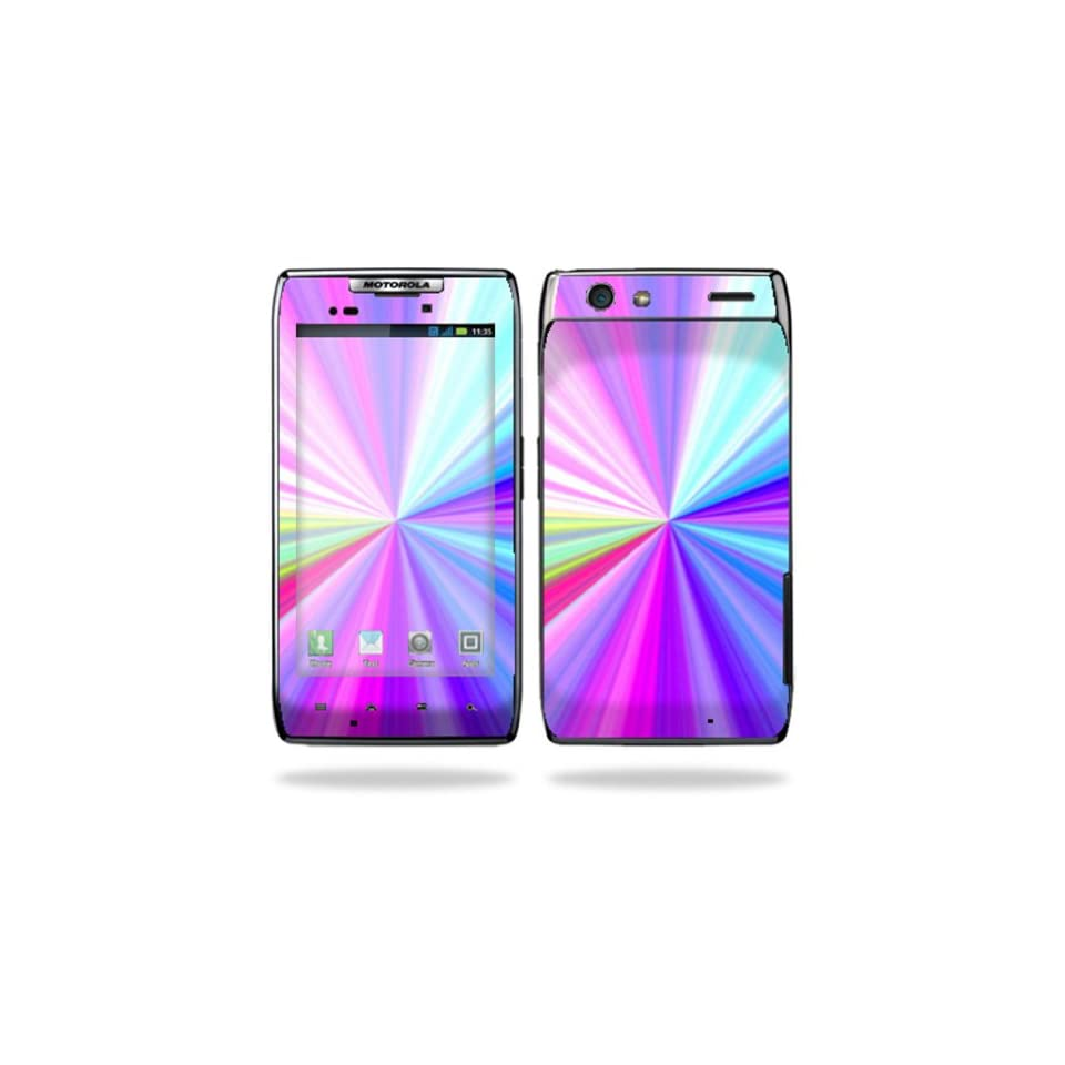 Protective Vinyl Skin Decal Cover for Motorola Droid Razr Maxx Android Smart Cell Phone Sticker Skins   Rainbow Zoom