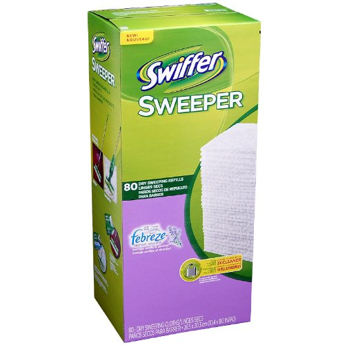Swiffer Sweeper With Febreze Lavender Vanilla 80 Dry Sweeping Refills
