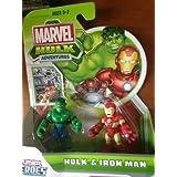Marvel Playskool Super Hero Adventures Mini Figure 2-Pack Hulk & Iron Man
