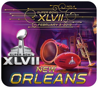 Super Bowl Xlvii 47 New Orleans Computer Mouse Pad Picture