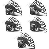 50 Pack ClutterFREE Cascade Hangers - Black