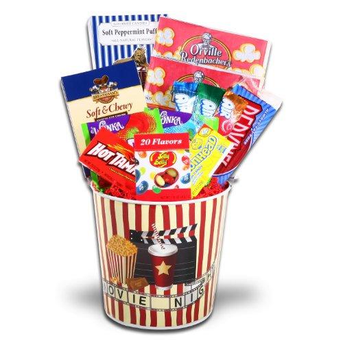Movie night gift basket findgift