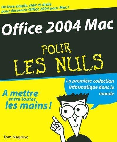 OFFICE 2004 MAC POUR LE NULS